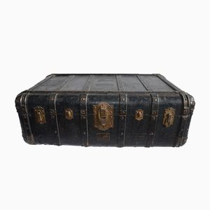 Antique Wood and Leather Suitcase