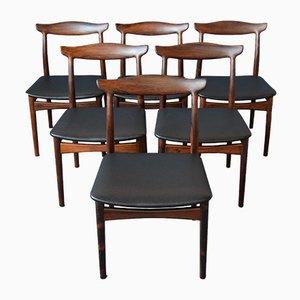 Mid-Century Palisander Esszimmerstühle von Erik Wørts für Vamo, 6er Set
