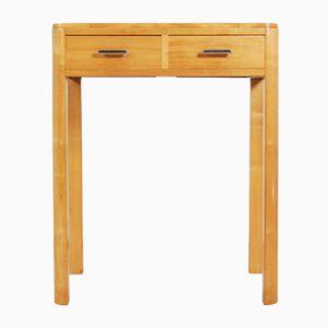 Vintage Art Deco Satin Birch Side Table