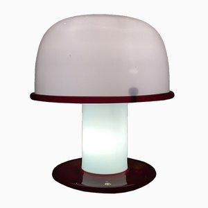 Italienische Glas Tischlampe von Ettore Sottsass für Vistosi, 1977