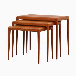 Tables Gigognes en Teck par Johannes Andersen pour Silkeborg, Danemark, 1960s