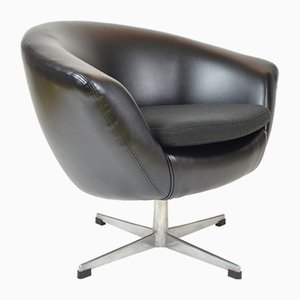 Schwarzer Kunstleder Egg Chair von UP Zavody Rousinov