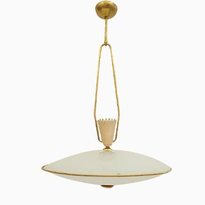 Mid-Century Italian Pendant with Uplight