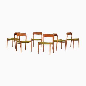 Danish Teak Dining Chairs by Niels O. Møller for J. L. Møller, 1960s, Set of 6