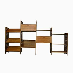 Mid-Century Four-Bay Ladderax Shelving System from Staples