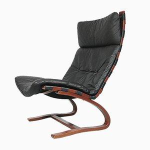 Norwegischer Lederstuhl von Ingmar Relling für Westnofa, 1960er