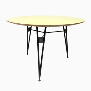 Italian Steel, Brass, and Formica Table, 1950s