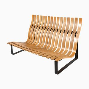 Slatted Bench by Kho Liang Ie for Artifort, 1968