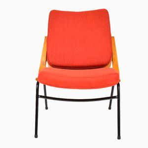 Roter Vintage Stuhl von TON, 1960er