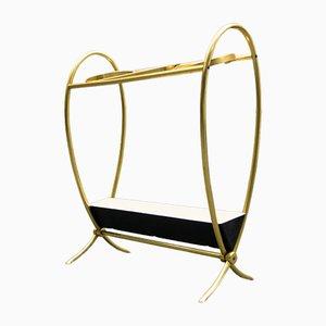 Filigree French Brass Umbrella Stand, 1950s