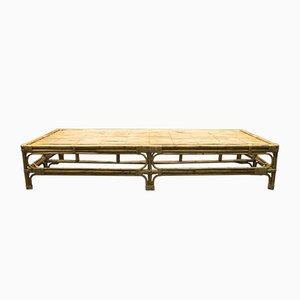 Italienisches Tagesbett aus Rattan & Bambus, 1950er