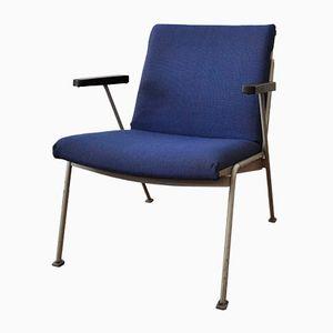 Blauer Armlehnstuhl von Wim Rietveld für Ahrend de Cirkel, 1950er