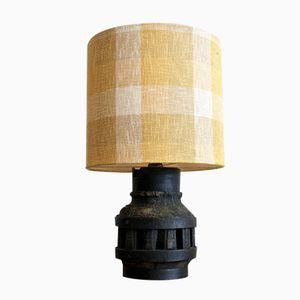 Italienische Vintage Tischlampe aus Holz & Eisen