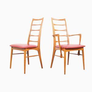 Dänische Mid-Century Stühle von Niels Koefoed für Hornslet Mobelfabrik, 1960er, 8er Set