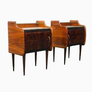Tables de Chevet Vintage en Broussin ou en Palissandre, Set de 2