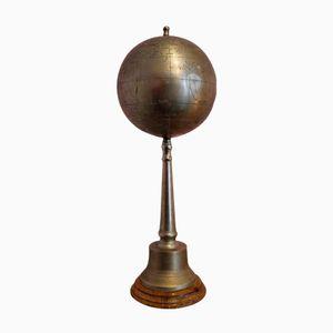 Vintage Metall Globus mit Fuß