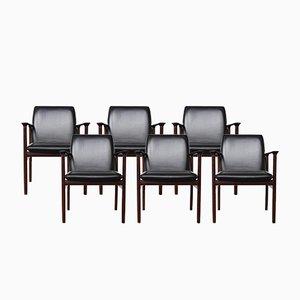Palisander Konferenzstühle von Arne Vodder für Sibast, 1960er, 6er Set