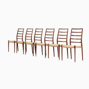 Teak Dining Chairs by Niels O. Møller for J. L. Møller, 1960s, Set of 6