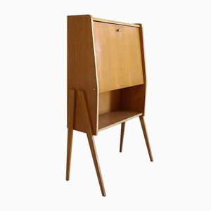 Oak and Beech Secretaire, 1960s