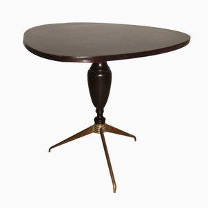 Italian Rosewood & Brass Coffee Table, 1950s