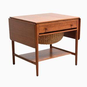 Tavolo da cucito modello AT 33 di Andreas Tuck per Hans J. Wegner, anni '50