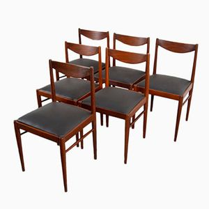 Mid-Century Rosewood & Skai Chairs, Set of 6