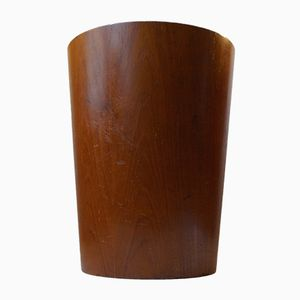 Swedish Teak Waste Basket by Martin Åberg for Servex, 1960s
