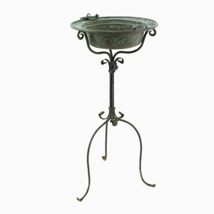 Antique Copper & Iron Flower Stand, 1900s
