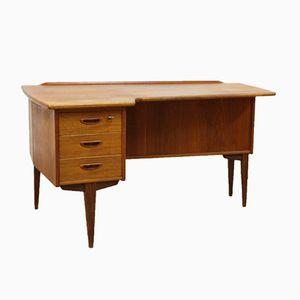 Schwedischer Organisch Geformter Teak Schreibtisch von Göran Strand für Lelångs, 1960er