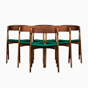 Danish Dining Chairs by Henning Kjaernulf for Boltings Stole Fabrik, 1960s, Set of 6