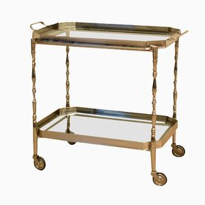 Mid-Century Chromed Serving Trolley, 1970s