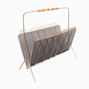German Metal Magazine Rack, 1950s