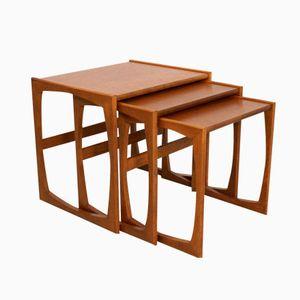 Tables Gigognes Quadrille Mid-Century par Robert Bennett pour G-Plan, Set de 3