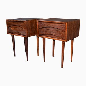 Mid-Century Rosewood Nightstands by Arne Vodder for NC Møbler Odense, Set of 2