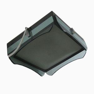 Italian Glass Square Ceiling Light, 1970s