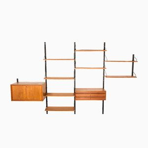 Vintage Danish Wall System with Eight Shelves by Poul Cadovius for Royal System