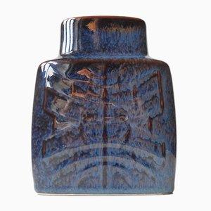 Glänzende Lila Keramik Vase von Carl-Harry Stålhane für Rörstrand, 1960er