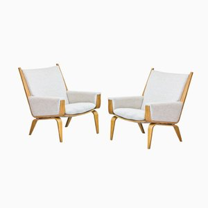 GE-501 Lounge Chairs by Hans J. Wegner for Getama, Set of 2