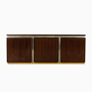 Vintage Rosewood Veneer & Chromed Metal Sideboad from Acerbis International