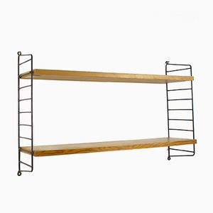 Swedish Wall Shelf by Nisse Strinning for String, 1970s