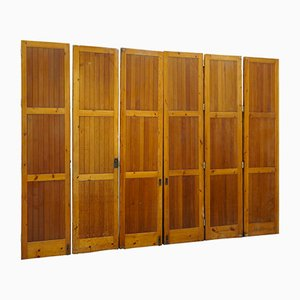 Vintage Architectural Oregon Pine Room Divider Bi Folding Doors