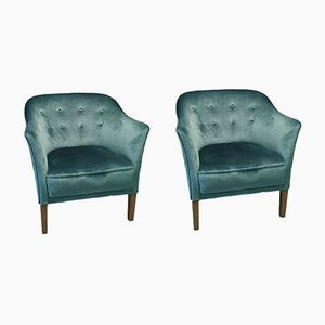 Mid-Century Swedish Club Chairs, 1940s, Set of 2