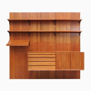 Vintage Mid-Century Danish Teak Royal System Wall Unit by Poul Cadovius for Cado