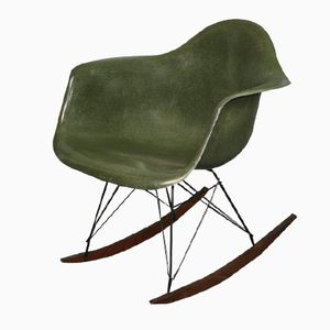 Grüner RAR Schaukelstuhl von Charles & Ray Eames für Herman Miller, 1960er