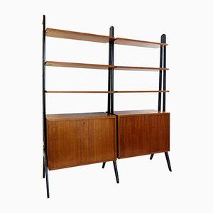 Danish Teak Modular Shelf, 1950s