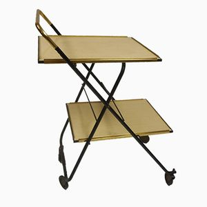 Mid-Century Iron & Formica Folding Trolley