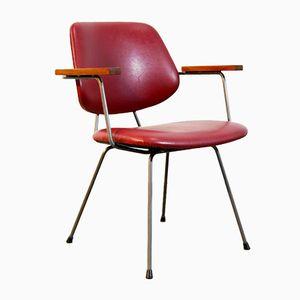 Chaise de Salon Industrielle Rouge en Skaï, 1970s