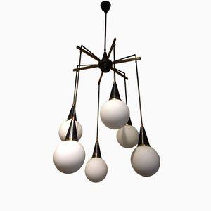 Modernistischer Kronleuchter mit Sechs Leuchten von Stilnovo, 1950er
