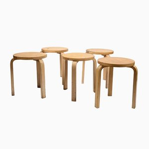 Model 60 Stacking Stools by Alvar Aalto for Artek, 1960s, Set of 5