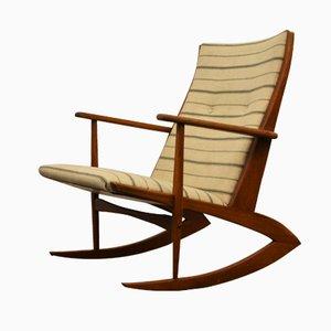 Chaise à Bascule en Teck par Georg Jensen pour Tønder Møbelvaerk
